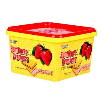 《向日葵》草莓夾心餅(800g/桶)