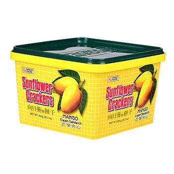 《向日葵》芒果夾心餅(800g/桶)