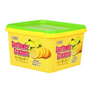 《向日葵》檸檬夾心餅(800g桶裝)
